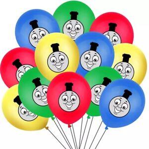"10 X 12"" THOMAS THE TANK ENGINE Colour Latex Printed Balloons Birthday Party"