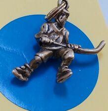 Charm D101 Hockey Player Sterling Silver Vintage Bracelet
