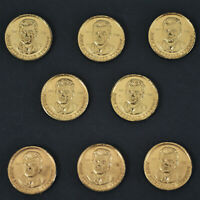 Lot of 8, 1963 John Fitzgerald Kennedy US Presidential Tokens A-1724
