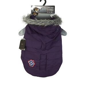 NEW Canada Pooch Size 20+ Everest Explorer Dog Jacket Eggplant Purple 47-55 lbs