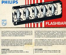 "* PHILIPS "" LAMPADINE PER FLASH * FLASHBAR - N° 1 Conf./10 FLASHES"