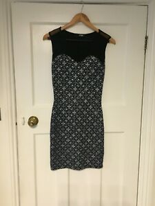 Quiz Navy and Silver Evening Dress. Size 10