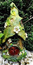 New Solar Fairy Leaf Lodge Garden Ornament