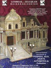 Catalogue de vente d'Automates et de Figures Animées 2013