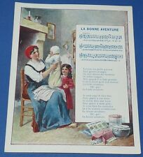 Rare chromo 1900 14 x 18 rhyme song fortune pub the coterie ecole