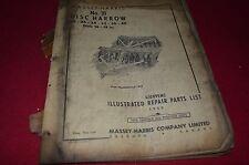 Massey Ferguson Harris 41 Mounted Plow Pony Tractor Dealer's Parts Manual RWPA