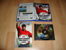 TIGER WOODS PGA TOUR 2002 DE EA SPORTS PARA LA SONY PS2 USADO COMPLETO