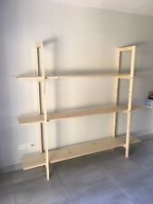 Scaffale libreria in legno di abete 180x40x180h