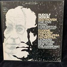 BEETHOVEN Piano Concertos Complete - RUDOLF SERKIN - COLUMBIA 2EYE ST 4LP BOX