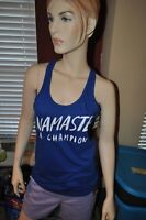 Ladies AdvoCare NAMASTE a Champion Logo Tank Top Shirt - Blue SIZE MED
