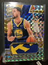 18-19 Spectra Spectacular Swatches Silver Prizm Klay Thompson Patch #/5 Emerald