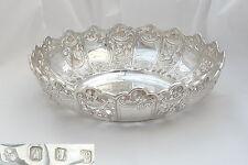 Rare Irish Victorian HM argent sterling relief fruit bowl 1897