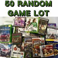 Ps2/PS3/xbox360/Xbox/Wii/ds GAME LOT! Mixed Games Wholesale Lot 50 Video Games