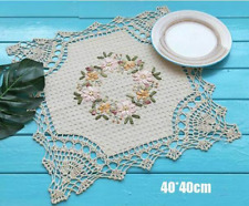 Dining Table Placemats Crochet Coasters Home Kitchen Lovely Decor Bowl Lace Mats