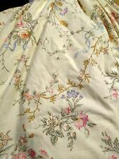 "Ralph Lauren Full Dust Ruffle Bed Skirt Cream Pink Blue Flowers Blue Ribbon 14"""""