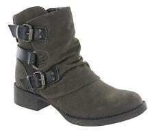 Blowfish Malibu Korrekt Ankle Biker Boots Buckle Detail Zip Up Fashion Shoes