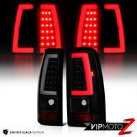 """""""LATEST DESIGN"""" For 99-06 GMC Sierra [NEON TUBE] Black Smoke LED Tail Light Lamp"""