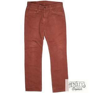J BRAND KANE Jeans 32x31 in Rust Craft Red Slim Straight Leg Cotton Denim USA