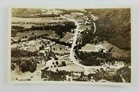 Postcard Real Photo Gatlinburg Tennessee Birds Eye Aerial View 1940