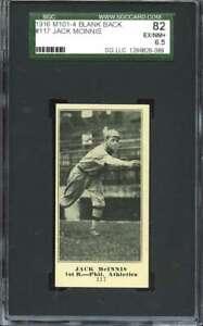 1916 M101-4 SPORTING NEWS #117 STUFFY MCINNIS SGC 6.5 ATHLETICS  *CG3518