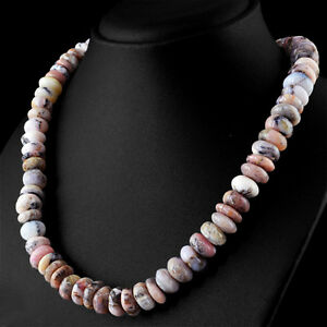 Rare 510.54 Cts Natural Pink Australian Opal Untreated Round Beads Necklace