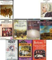 Beethoven Mozart Vivaldi Tchaikovsky DebussyClassical Opera Music cassettes lot.