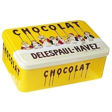 BOITE EN METAL PUBLICITAIRE RETRO - Chocolat Delespaul-Havez - Tablée d'enfants