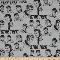 Star Trek: Galaxy Pop The Crew Stone Grey Camelot 100% cotton fabric by the yard