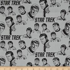 Star Trek: Galaxy Pop The Crew Stone Grey Camelot 100% cotton fabric by the yard