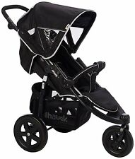 Hauck Caviar Grey Viper 3 Wheel Pushchair Stroller From Birth Baby Buggy 310366