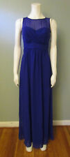 WOMEN'S BEAUTIFUL PURPLE FULL LENGTH EVENING GOWN - CHAPS - SIZE 2 - NEW
