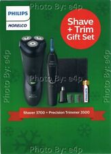 PHILIPS NORELCO CORDLESS ELECTRIC MEN'S SHAVE & TRIM GIFT SET WET DRY SEALED NEW