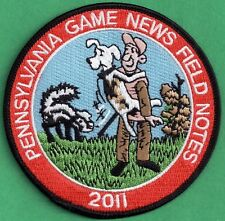 """Pa Pennsylvania Game Commission NEW 4"""" 2011 Pa Game News / Field Notes Patch"""