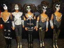 """(5) KISS Mego Dolls 1978 In Original Box 12 1/2"""" Tall Rock Punk Music"""