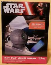 Thinkgeek Star Wars Estrella De La Muerte USB Cargador De Coche (con puertos USB 2X) 2016 Disney