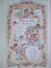 Dimensions Tiny Little Treasure Cross Stitch Kit 35062 Birth Record Baby Angels