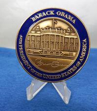 "PRESIDENT BARACK OBAMA 44th PRESIDENT OF THE U.S.A. 2"" CHALLENGE COIN V-1 BLUE"