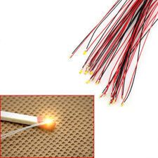 10Pcs T0603WM Pre-soldered Micro Litz Wired Leads Warm White SMD Led 0603 200mm