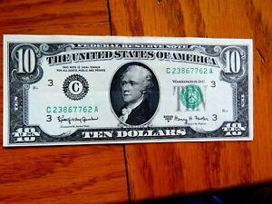 HIGH GRADE 1963-A  $10 FEDERAL RESERVE NOTE