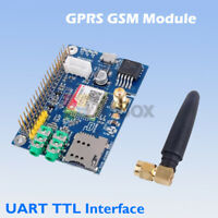 SIM800C Development Board GPRS GSM UART TTL Module w/ Antenna For Raspberry Pi