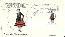 Spain 1969 First Day Cover - Regional Costumes - Santander