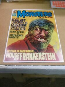 """FAMOUS MONSTERS OF FILMLAND JULY 1973 REPRODUCTION COVER 13""""BY16.5"""" WOLFMAN!"""