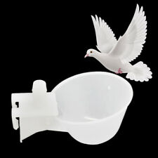 10x Plastic Birds Food Drinking Feeding Bowl Feeder Safe Water Feeder for Pigeon