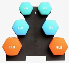 Fit & Firm Balance ARM Muscle From D-3-5-8 Dumbbells Set with Complete Stand Kit