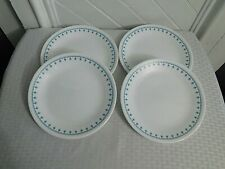 "Corelle Blue Snowflake Garland 8-1/2"" Salad Plates - Set of 4"