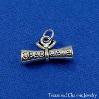Silver DIPLOMA CHARM Graduate Graduation High School College PENDANT *NEW*