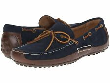 Polo Ralph Lauren Mens Boat Shoes Wyndings Genuine Leather Navy Tan Size 11D