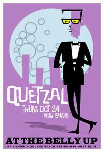 Scrojo Quetzal with Emaue 2002 Poster Belly Up Tavern Solana Beach Quetzal_0210
