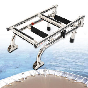 Boat Inboard 4 Step Ladder Stainless Steel Maintenance Free Supports up to 300lb