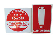 Fire Extinguisher Signs ID ABE Powder Sign and Location Sign